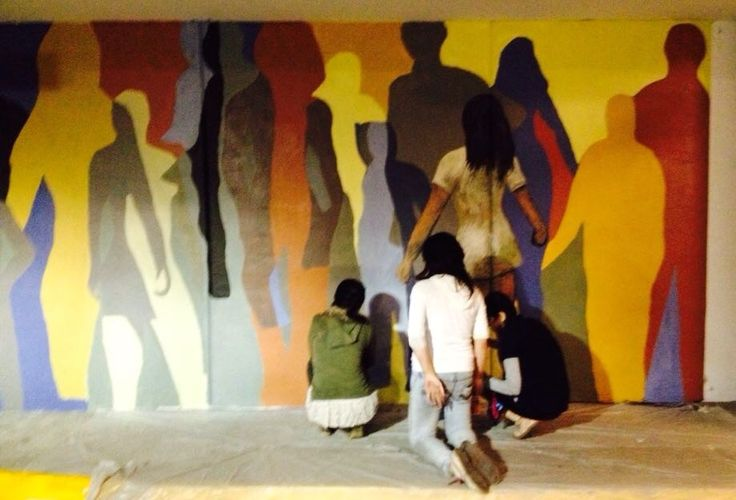 Mural creado por j venes del injuve en mitikah colonia for Benito juarez mural