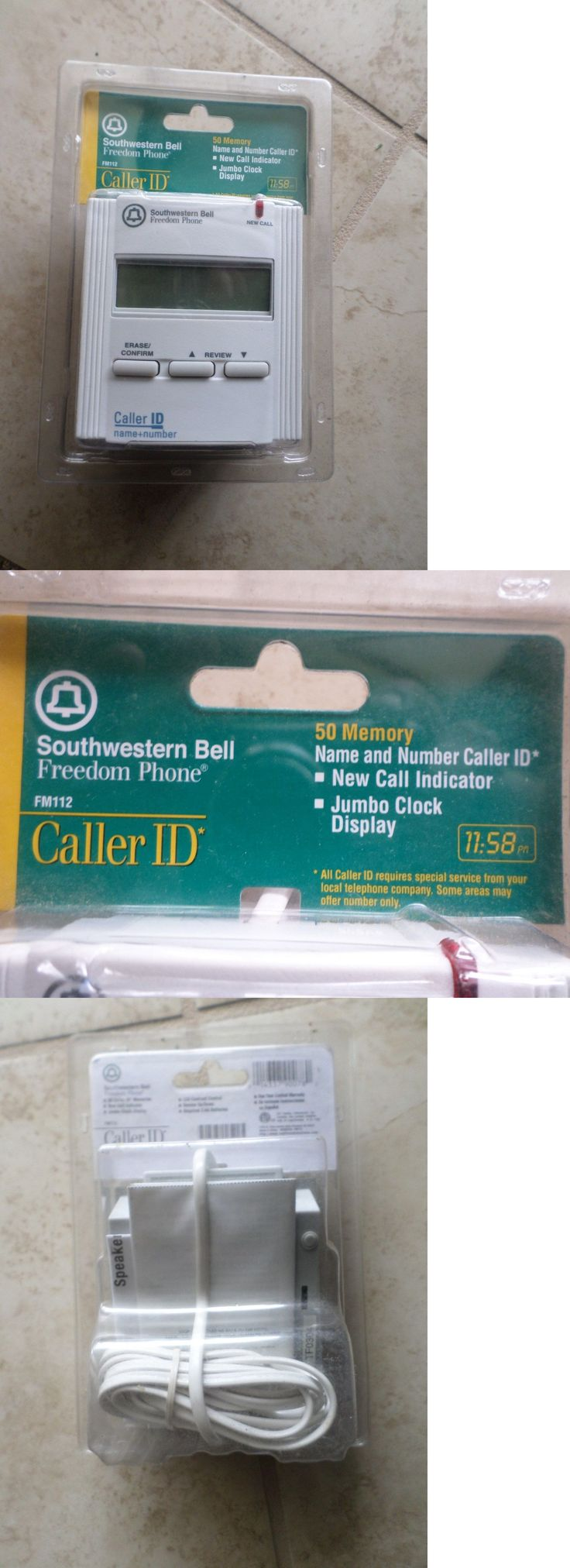 Caller ID Devices: Southwestern Bell Fm112 Caller Id Unit (White) New In Package -> BUY IT NOW ONLY: $30 on eBay!