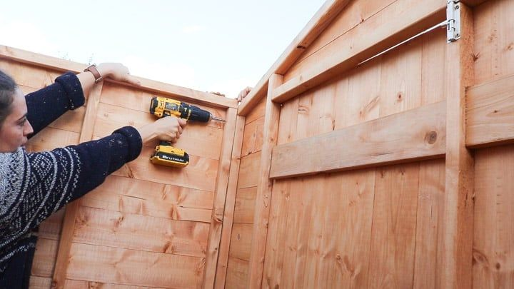 Pin On Shed Build With Shelves