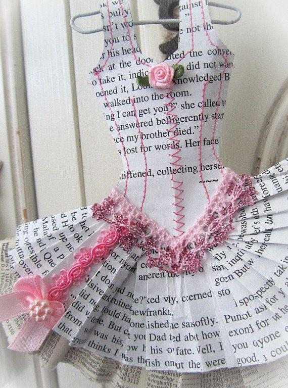 Papier Boudoir Ballerina with glitter lace by lilliputloft