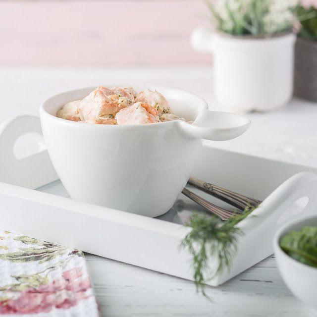 Филе лосося, запеченное в йогурте