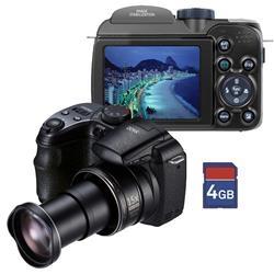 """Câmera Digital GE X-400, 14MP, Preta, LCD 2,7"""", Foto Panorâmica, Face Detection, Estabilizador de Imagem + Cartão SD 4GB      GANHEI!!!"""