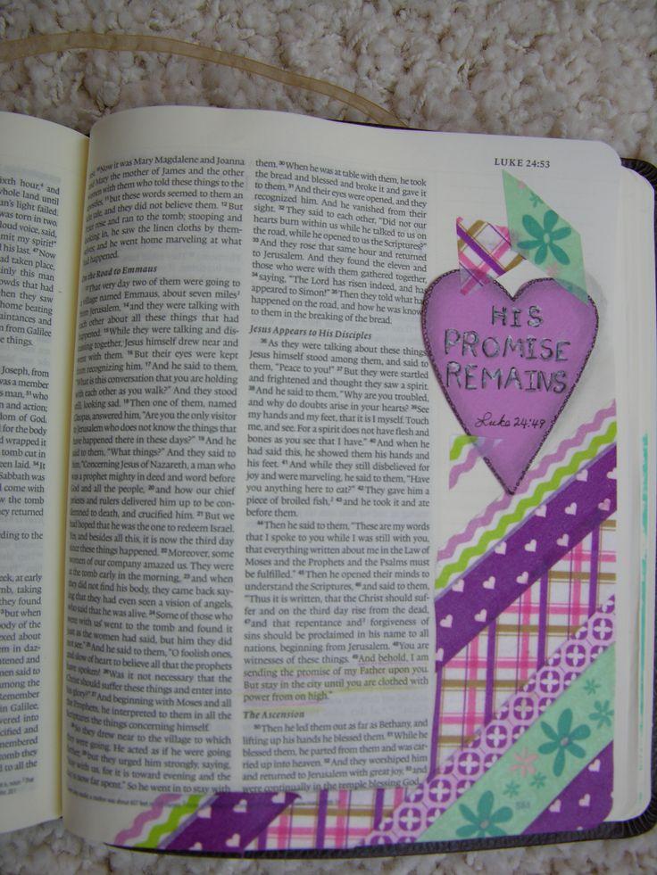 by Linda Watkins.... Bible Art Journaling Challenge Week 19 - Luke 24:49