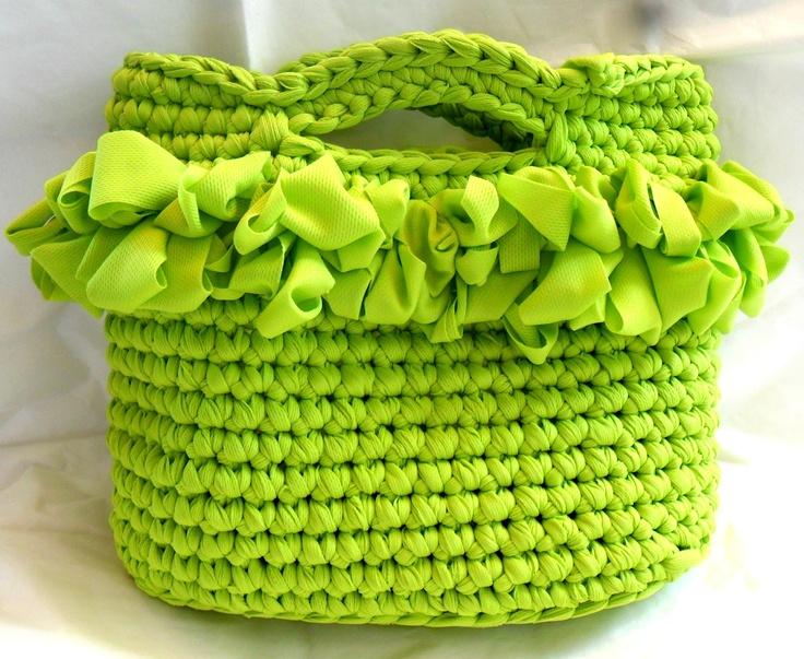 una mamma con la toga: Borse in fettuccia...verde fluo