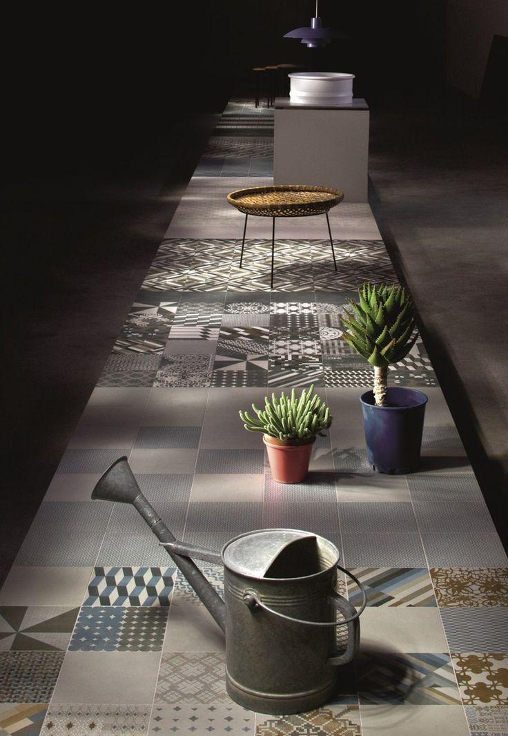 Glazed stoneware wall/floor tiles AZULEJ NERO RENDA - MUTINA