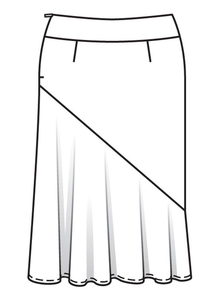 Бурда для полных выкройки юбки