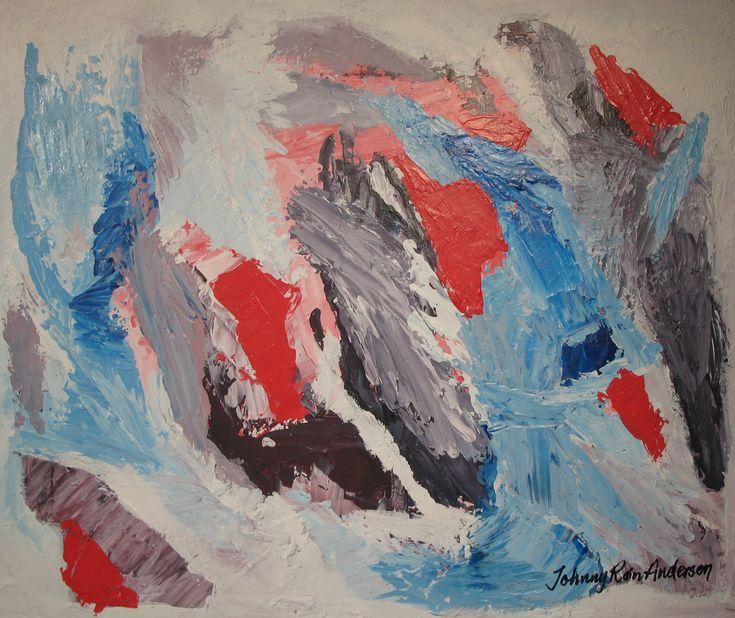 Maleri Flukt 50x60 cm