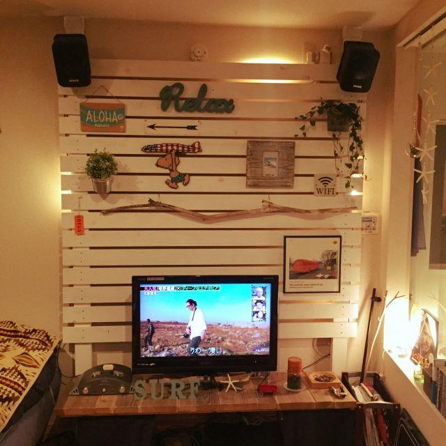 ディアウォールで解決!収納も壁掛けテレビも自由自在