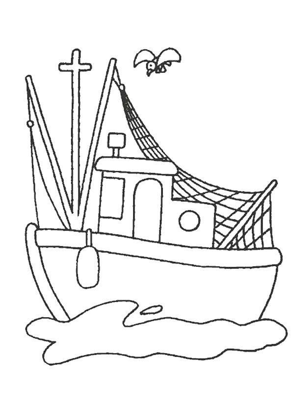 Les 55 meilleures images du tableau coloriages de bateaux - Dessin pecheur ...