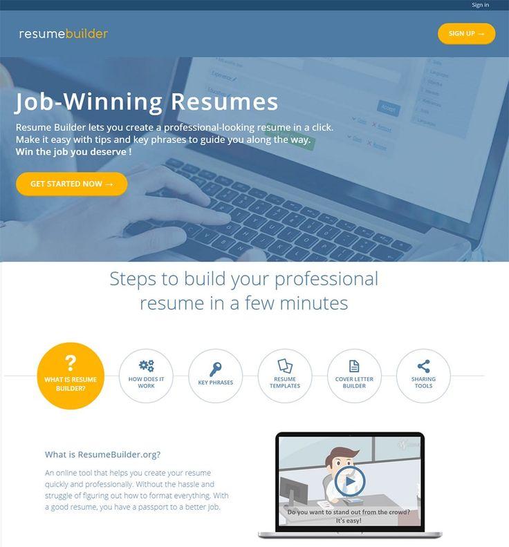 best 25+ free online resume builder ideas on pinterest | online ... - Free Job Resume Builder