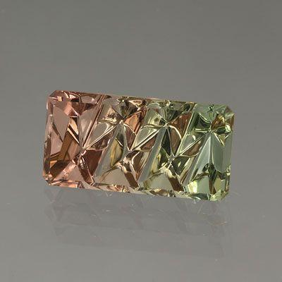 Bicolor Tourmaline gemstone / cut by John Dyer / Mineral Friends <3