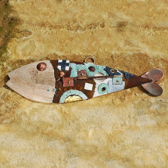 Circles and Squares Fish | Wooden Fish | Seaside Art - buy the sea