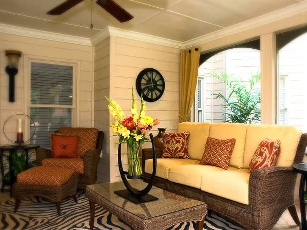 This Transitional Outdoor Space Was Screened And Fitted With A Fan To Be A  Retreat On