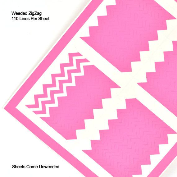 Zig Zag nail vinyl decal sheet. Sheet includes 110 pieces for nail art. These Zig Zags are intended to hng over for easy removal, but they can be