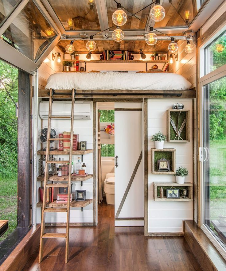 New Frontier Alpha Tiny Home | Here, you can look inside the Alpha Tiny Home, New Frontier's flagship model. It's the fanciest tiny home we've ever seen. #refinery29 http://www.refinery29.com/2016/08/118903/new-frontier-alpha-tiny-home