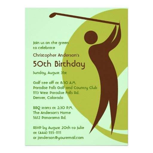 20 Best Golf Themed Birthday Invitations Images On