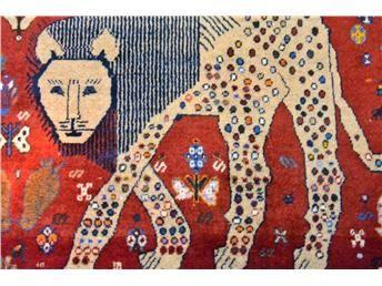Persiska Gashgahi Lejon mattor, sällsynta!
