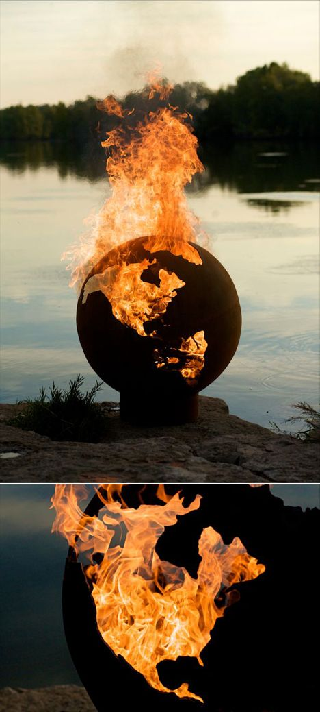 Amazing Global Domination, Step 1B: Order Flaming Globe From  Ideas