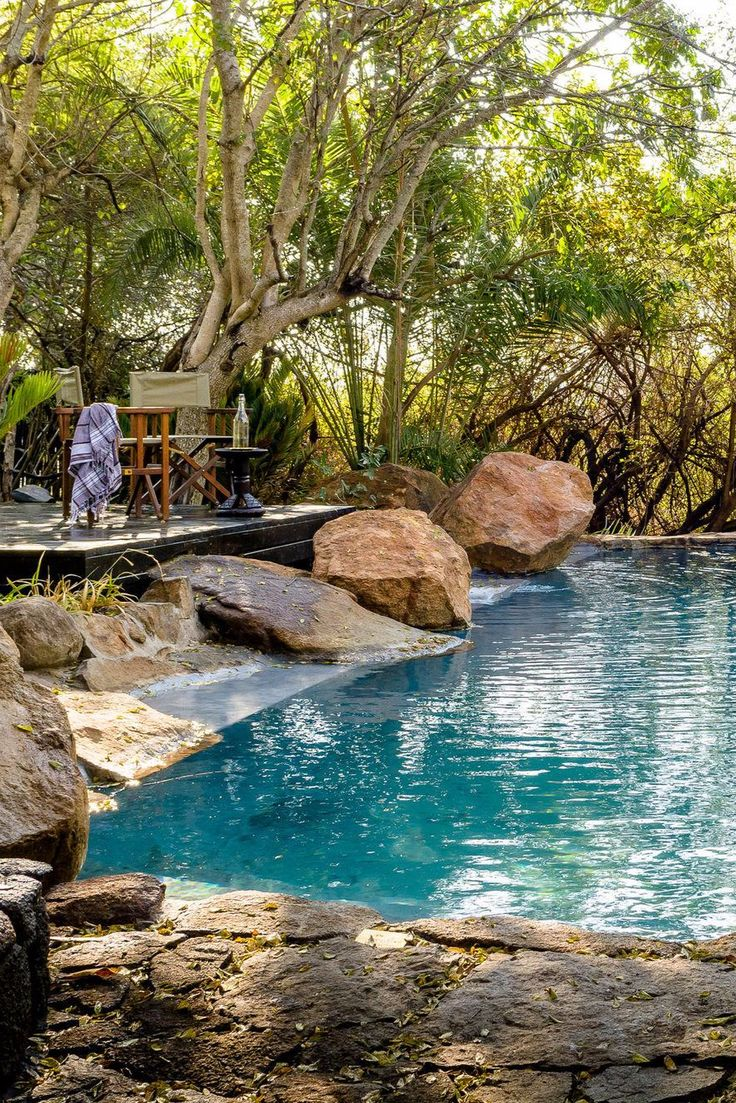 Dining areas and suspended pavilion decks now edge the Sand River—a popular watering hole for the area's elephants—and the lodge's sitting room has been relocated to the property's forefront for dramatic natural panoramas. Singita Ebony Lodge (South Africa) - Jetsetter