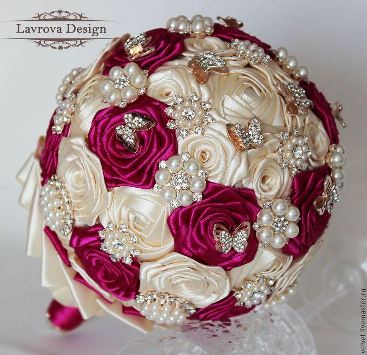 Купить Брошь Букет - розовый, букет, букет невесты, брошь букет, свадебный букет, невеста