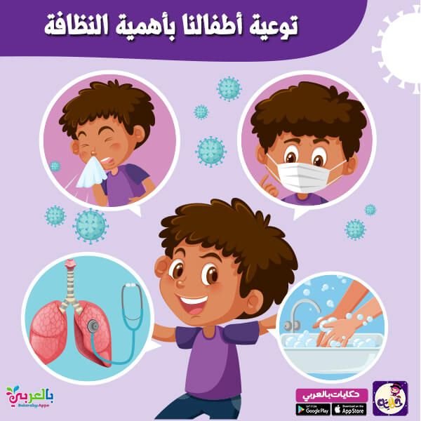انفوجرافيك اهمية غسل اليدين للاطفال بالعربي نتعلم Vector Free Hand Washing