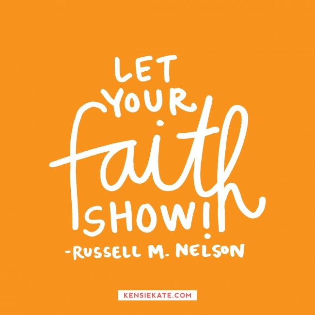 happy sunday! quote from russell m. nelson