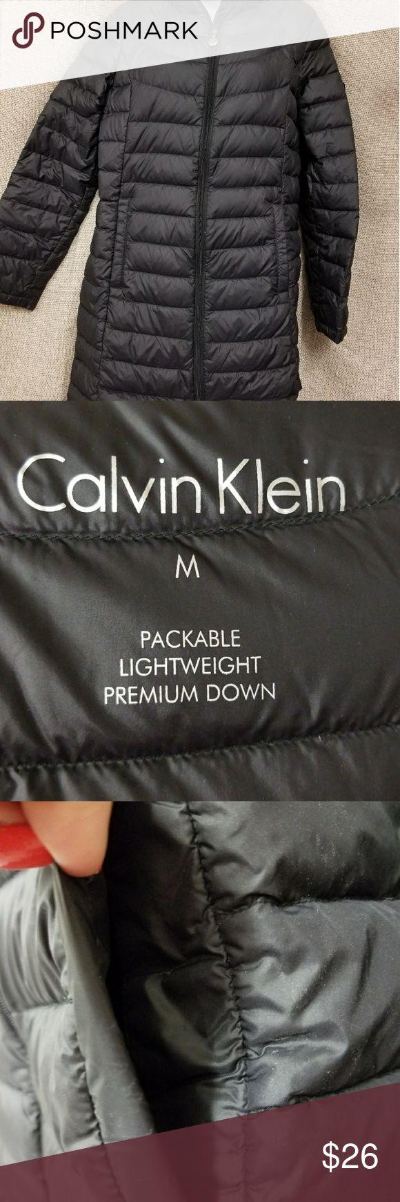 black Calvin Klein lightweight premium down coat Excellent condition. Non smoking home. #1 Calvin Klein Jackets & Coats