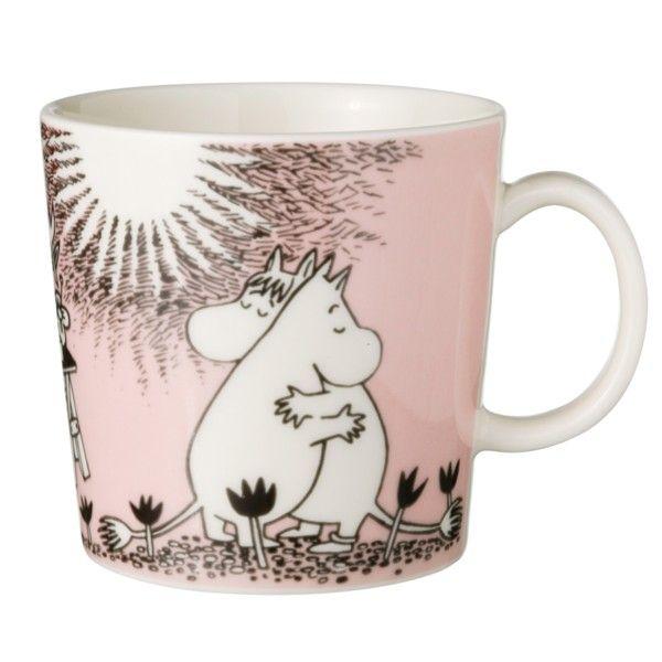 Mug Moomins Amour, Rose - Tove Slotte-Elevant - Arabia - RoyalDesign.fr