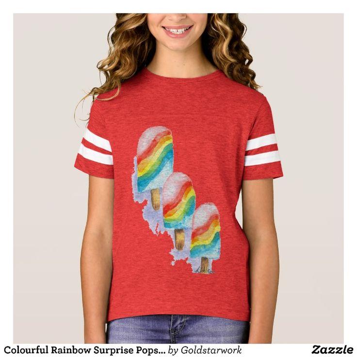 Colourful Rainbow Surprise Popsicle T-Shirt