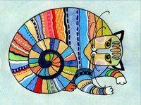 Кот-улитка #кот #акварель #иллюстрация