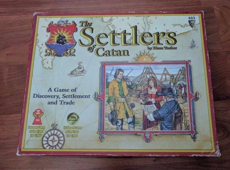 Settlers of Catan board game multiplayer (old vintage game) GREAT CONDITION #factorytoy