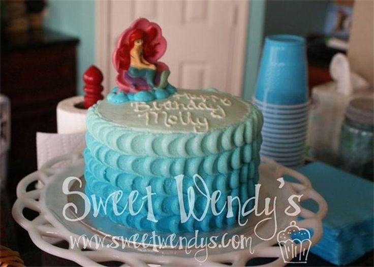 Ombre Little Mermaid Cake