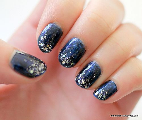 Nails: starry starry night #manicure #nailsNails Trends, Nails Style, Beautiful Department, Starrynight Manicures, Night Nails, Stars Nails, Starry Starry, Beautiful Blog, Starry Nights