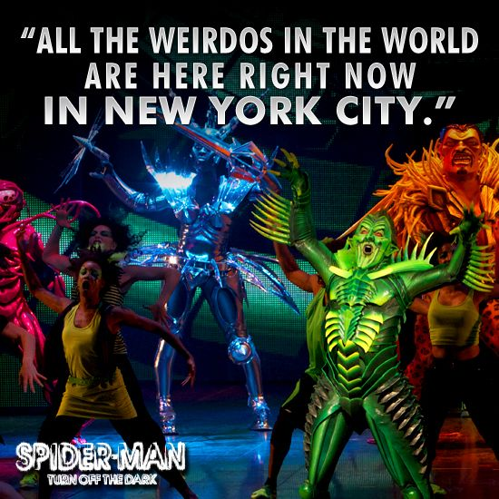 "Cilck the Green Goblin for a sneak peek of the his Act II opener, ""Freak Like Me."" #spiderman #broadway #nyc"