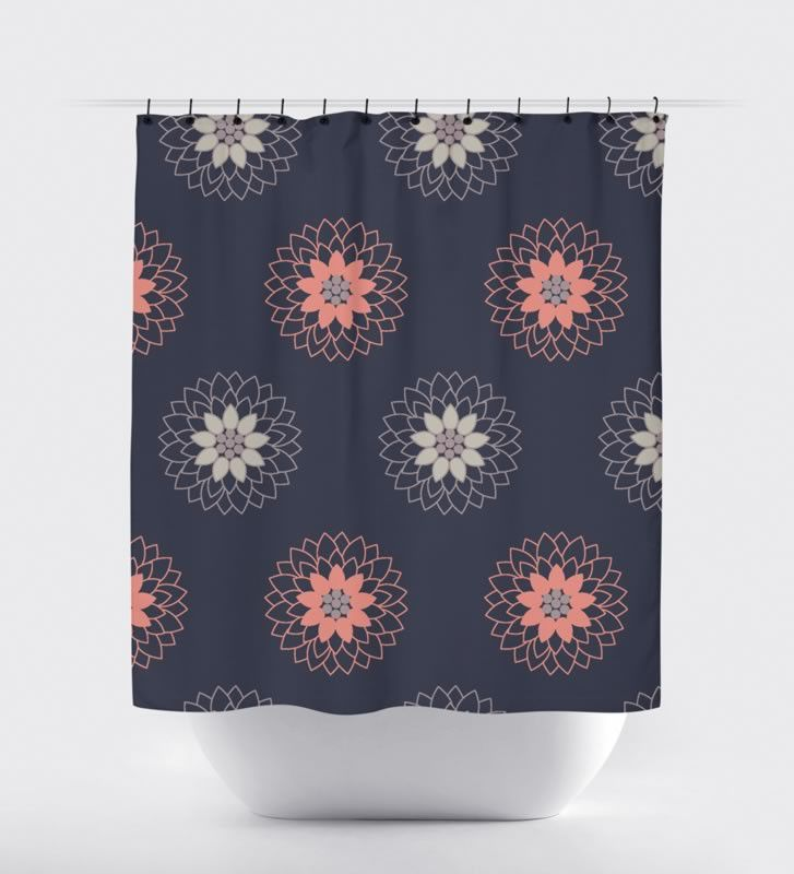 1000 Ideas About Coral Shower Curtains On Pinterest Shower Curtains Chevr