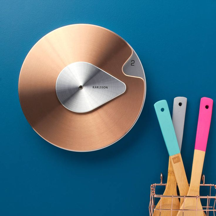 Contemporary Copper Wall Clock