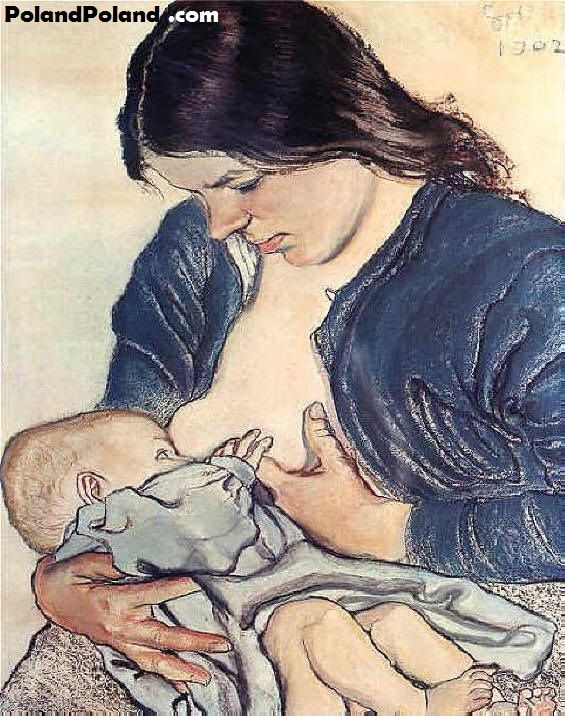 "Stanislaw Wyspianski ""Motherhood"" 1902"