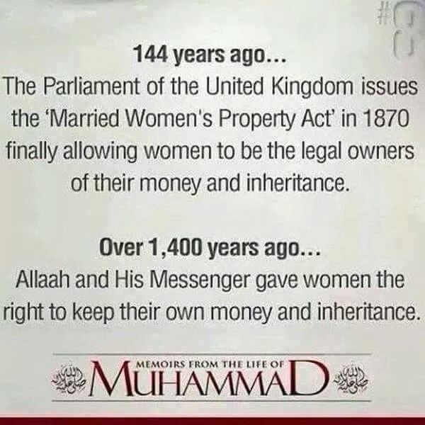 #WhoIsMuhammad - He gave #Women equal rights to Men