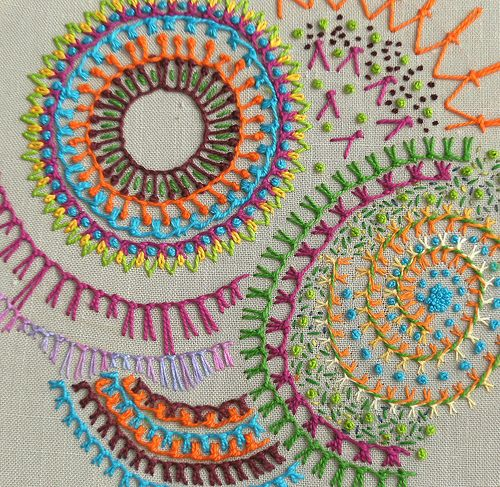 TAST 2010 -knotted buttonhole stitch 2 | Flickr - Photo Sharing!