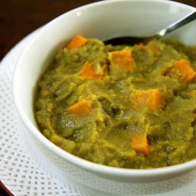 Vegan Split Pea and Sweet Potato Soup | Recipe