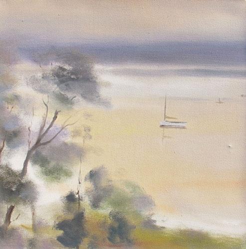 VIOLA DOMINELLO   'New Port'   2011  oil on canvas  46 x 46 cm