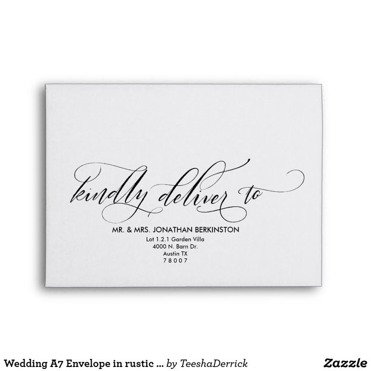 33 Best Wedding Envelope Template Images On Pinterest | Letters