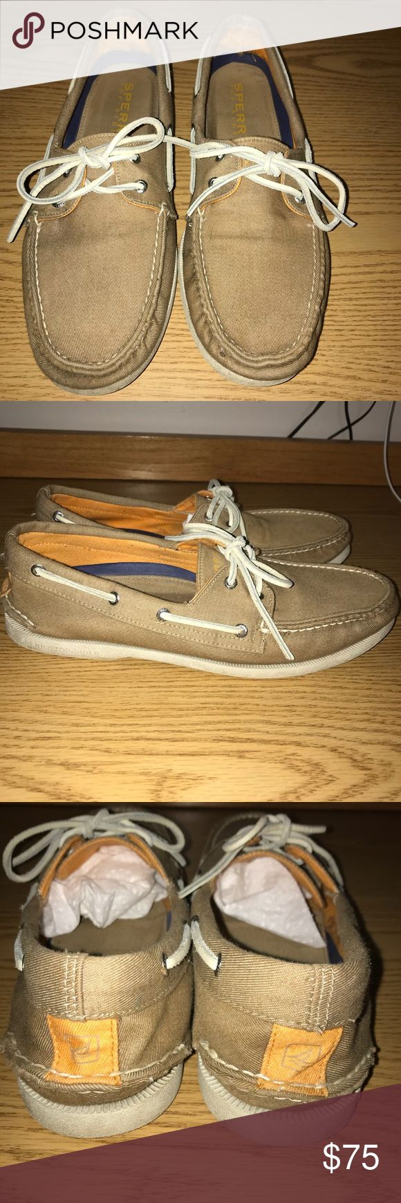 Sperry Top Siders Like-new condition. Only worn a few times. Size 12M. Discounted shipping on my first sale! Sperry Top-Sider Shoes Boat Shoes