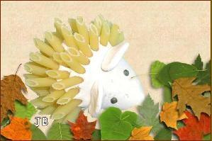 Herfst egel: Brooddeeg of klei met Penne