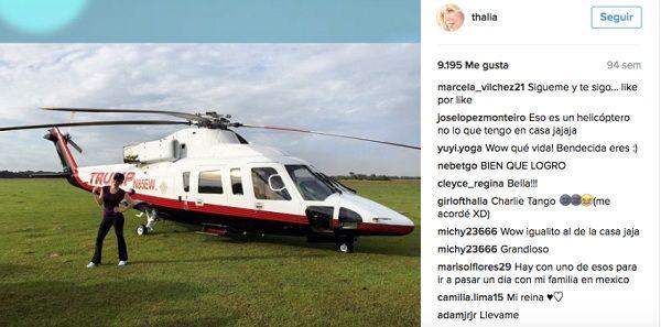 Thalia en polémica helicóptero de Donald Trump