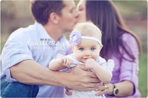 Love this pose with baby in foreground. Also, this baby is adorable!