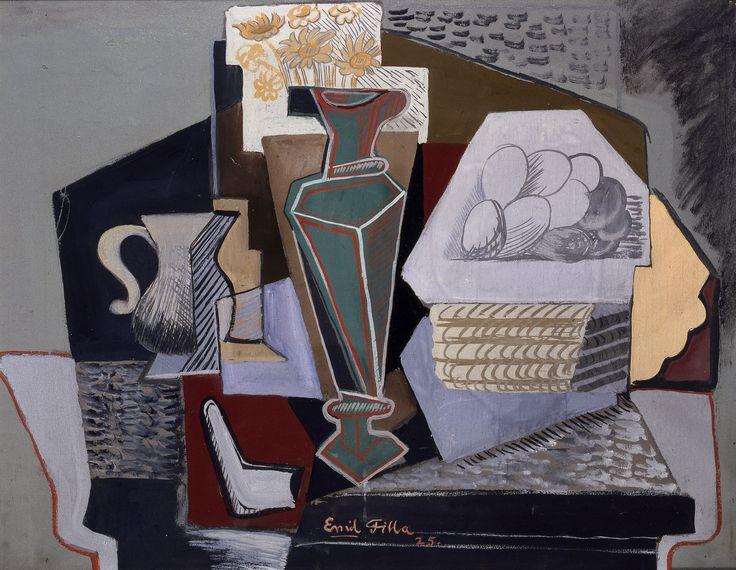 Emil Filla, Zátiší s košíkem vajec, 1925, Západočeská galerie v Plzni