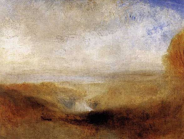 Joseph William Turner - Landscape with a River and a Bay in the Background: 1835-40