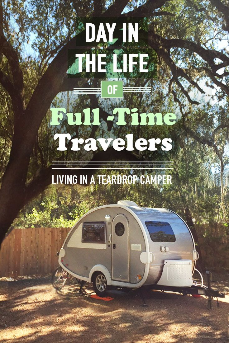 A day in the life living in a tab teardrop camper