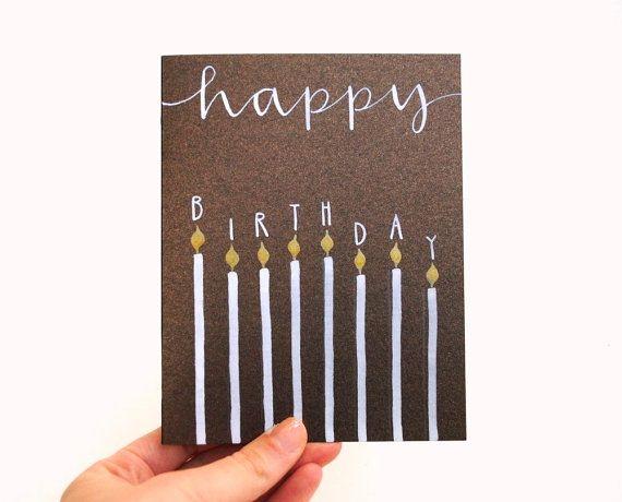 Alles Gute zum Geburtstag Grußkarte mit handgeschriebene